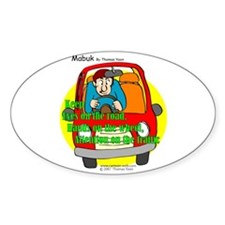 Driving Safety Oval Decal