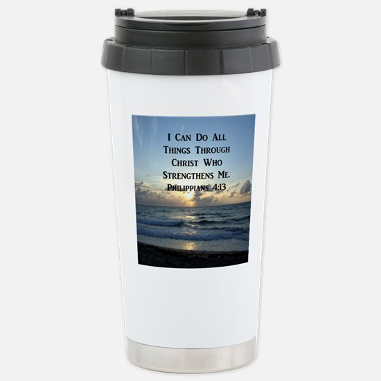 PHIL 4:13 VERSE Stainless Steel Travel Mug
