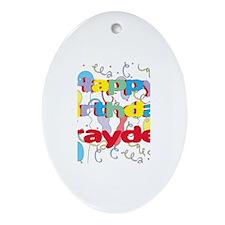 Happy Birthday Brayden Oval Ornament