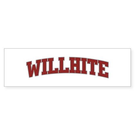 WILLHITE Design Bumper Sticker
