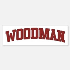 WOODMAN Design Bumper Bumper Bumper Sticker