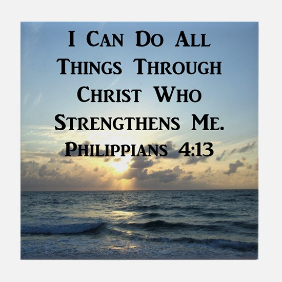 PHIL 4:13 VERSE Tile Coaster