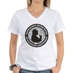 Genealogy Detectives Women's V-Neck T-Shirt
