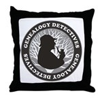 Genealogy Detectives Throw Pillow