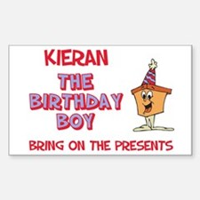 Kieran - The Birthday Boy Rectangle Decal