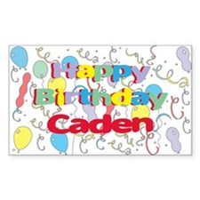 Happy Birthday Caden Rectangle Decal