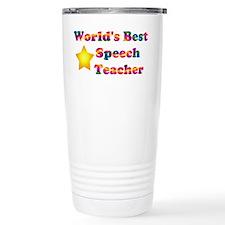 World's Best Speech Teacher Travel Mug