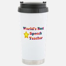 World's Best Speech Teacher Travel Mug