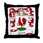 Lecoq Family Crest Throw Pillow