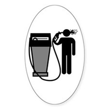 Gas Pump Suicide Oval Decal