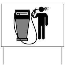 Gas Pump Suicide Yard Sign