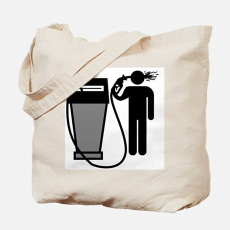 Gas Pump Suicide Tote Bag
