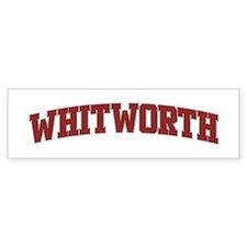 WHITWORTH Design Bumper Bumper Sticker