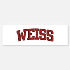 WEISS Design Bumper Bumper Bumper Sticker