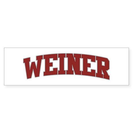 WEINER Design Bumper Sticker
