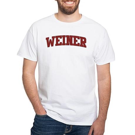 WEINER Design White T-Shirt