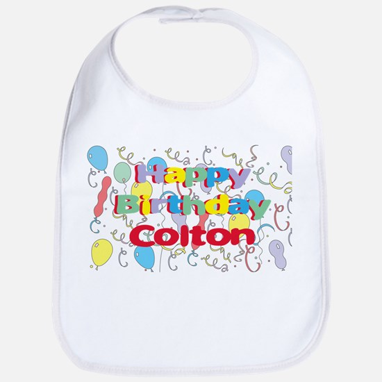 Happy Birthday Colton Bib