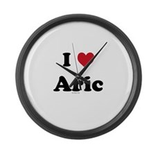 I love Aric Large Wall Clock