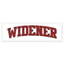 WIDENER Design Bumper Bumper Sticker