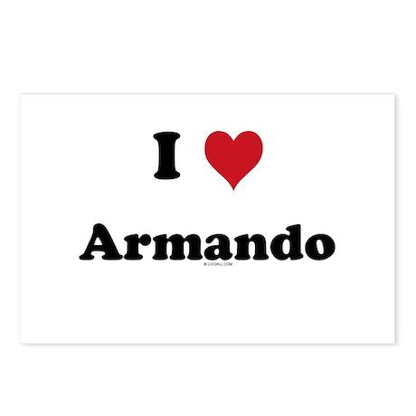 I love Armando Postcards (Package of 8)