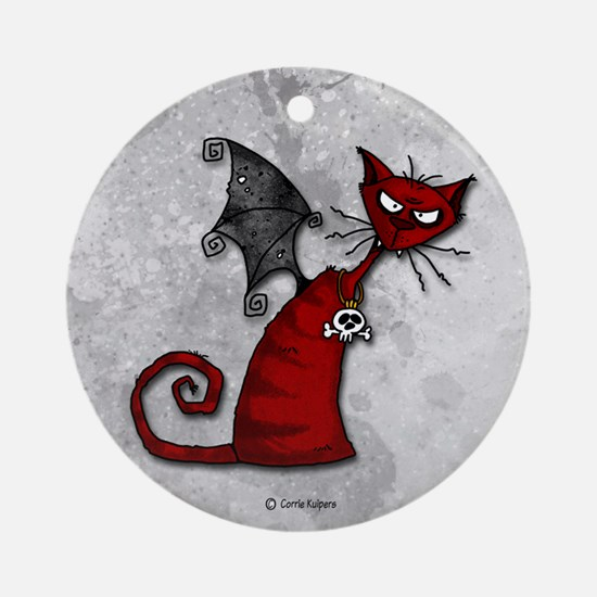 Doom Kitty Ornament (Round)