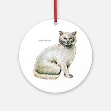 Turkish Angora Cat Keepsake (Round)