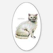 Turkish Angora Cat Oval Decal