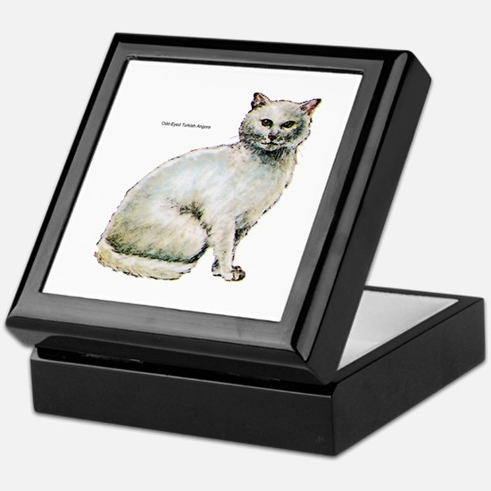 Turkish Angora Cat Keepsake Box