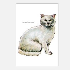 Turkish Angora Cat Postcards (Package of 8)
