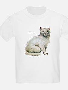Turkish Angora Cat (Front) Kids T-Shirt