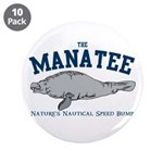 "Manatee 3.5"" Button (10 pack)"