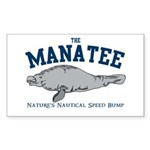 Manatee Rectangle Sticker