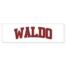 WALDO Design Bumper Bumper Sticker