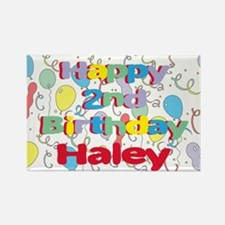 Haley's 2nd Birthday Rectangle Magnet
