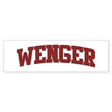 WENGER Design Bumper Bumper Sticker