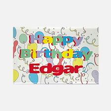 Happy Birthday Edgar Rectangle Magnet