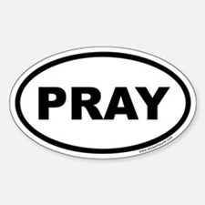 Pray Oval Sticker (Euro)