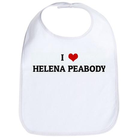 I Love HELENA PEABODY Bib