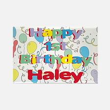Haley's 1st Birthday Rectangle Magnet