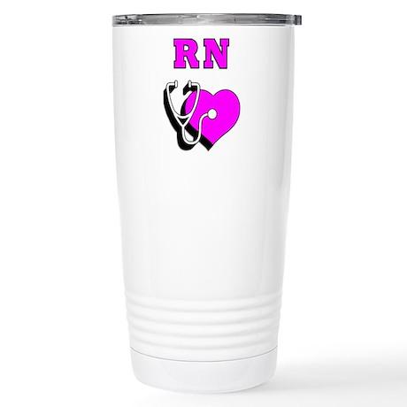 RN Nurses Care Stainless Steel Travel Mug