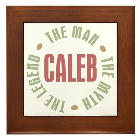 Caleb Man Myth Legend Framed Tile