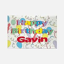 Happy Birthday Gavin Rectangle Magnet
