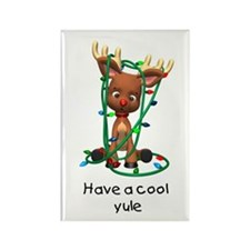 Have a Cool Yule (Reindeer) Rectangle Magnet (100