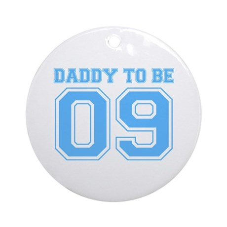 Daddy To Be 09 (Blue) Ornament (Round)
