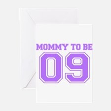 Mommy To Be 09 (Purple) Greeting Cards (Pk of 10)