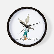 Flying Monkeys stole my broth Wall Clock