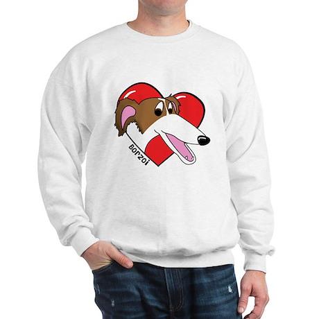 Cartoon Borzoi Love Sweatshirt