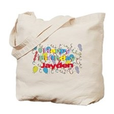 Happy Birthday Jayden Tote Bag