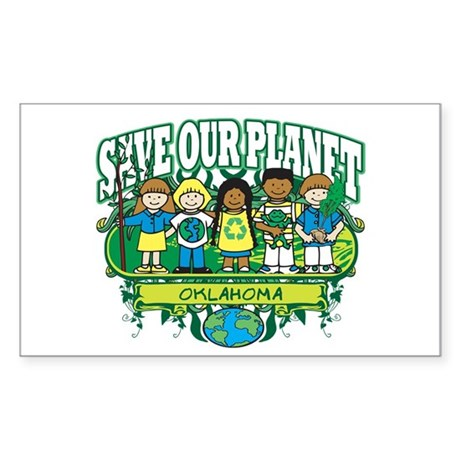 Earth Kids Oklahoma Rectangle Sticker 50 pk)