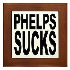 Phelps Sucks Framed Tile